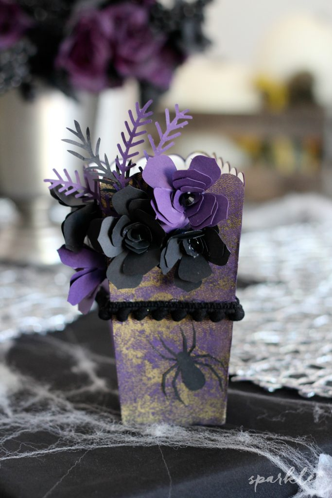 Creepy glam popcorn box decor for the Popcorn Box Blog Hop 2016!