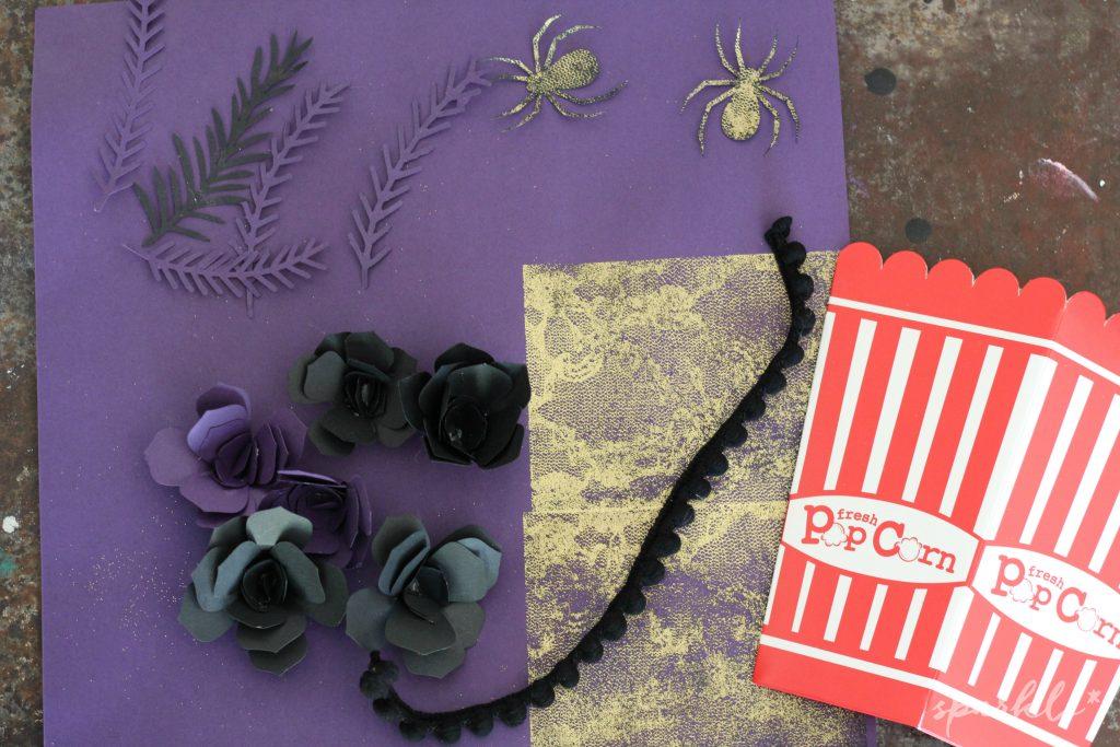 Creepy glam popcorn box decor for the Popcorn Box Blog Hop 2016!