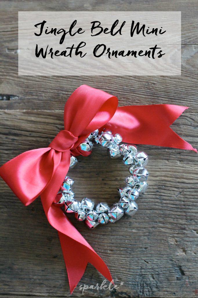 Mini jingle bell wreath ornaments
