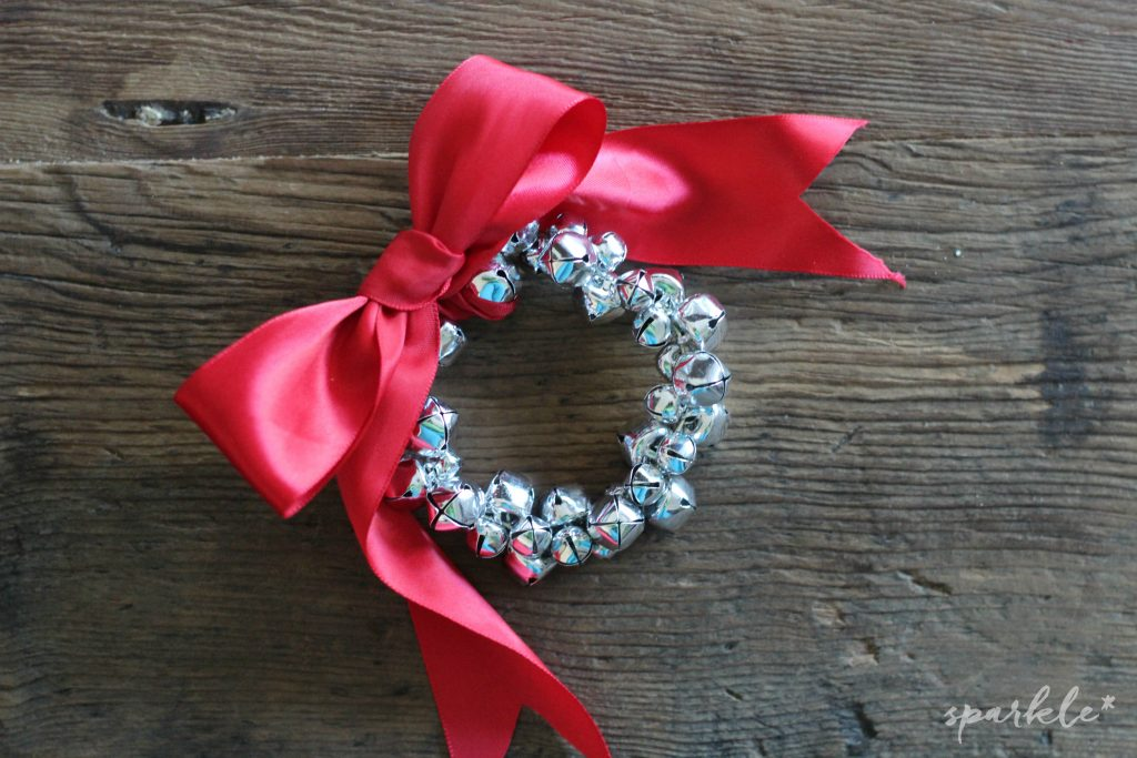 Mini jingle bell wreath ornaments