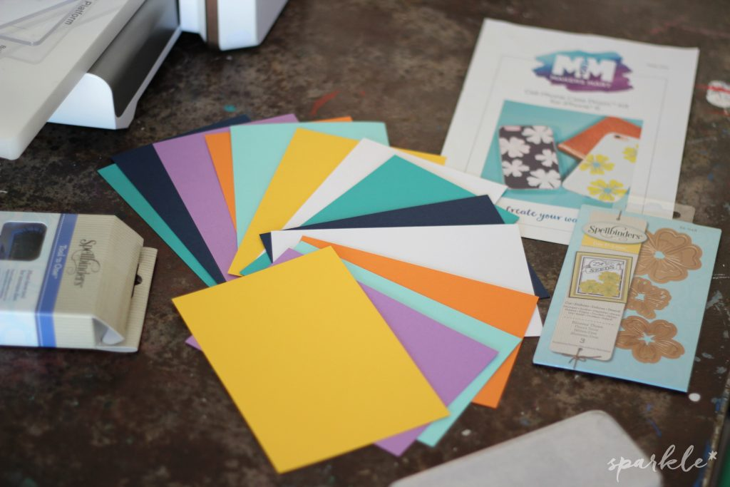 Create a one-of-a-kind phone case using this fun kit from Maker's Mart by Spellbinders!