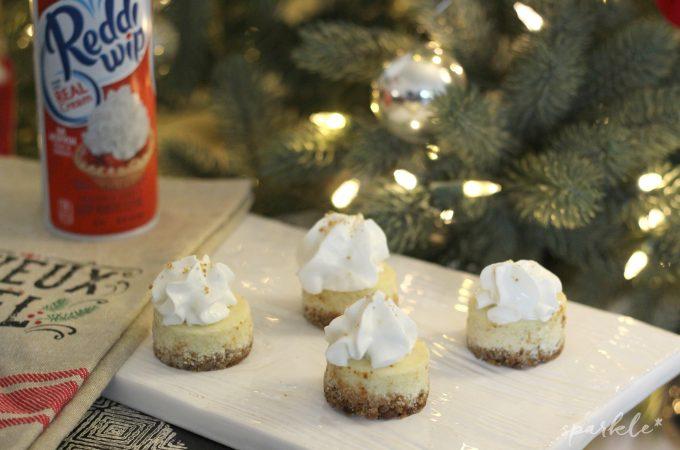 Mini Eggnog Cheesecakes with a Gingerbread Crust