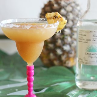 You are going to love the sweet and smokey taste of this grilled pineapple margarita! It's one of the best tequila cocktail recipes I've made yet!