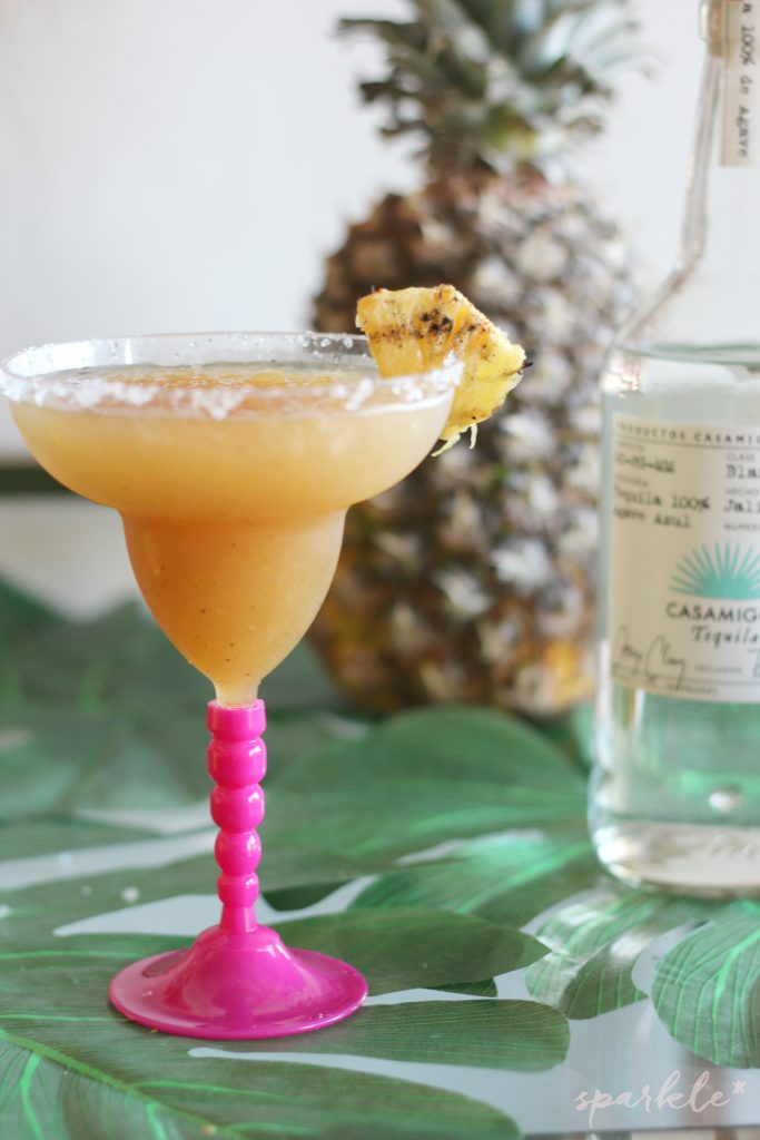 Get out the blender and the tequila, because it's time to make a Grilled Pineapple Margarita!