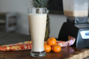 Start your day with this super delicious mandarin orange creamsicle protein shake recipe.
