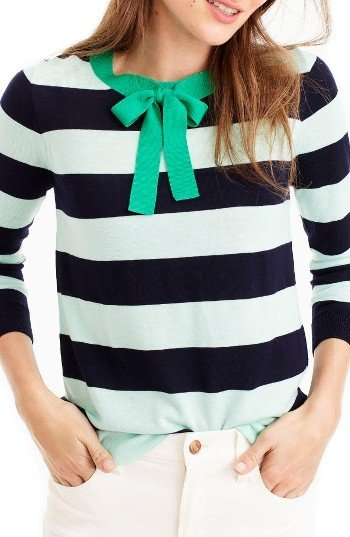 J. Crew Tippie Tie Neck Sweater