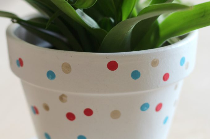 Hand-painted Confetti Flower Pot