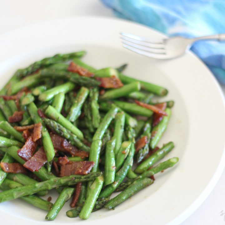 Spicy Asparagus with Bacon