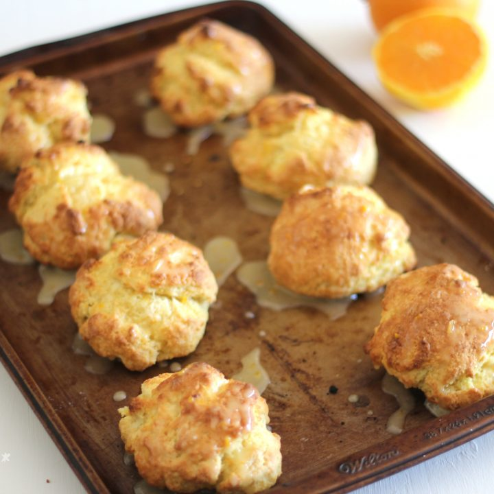 Sweet Orange Drop Biscuits