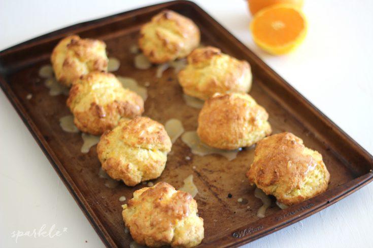 Sweet Orange Drop Biscuits