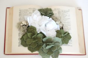 Handmade felt succulent gifts