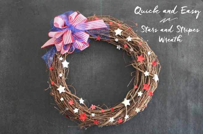 Quick and Easy Stars and Stripes Wreath