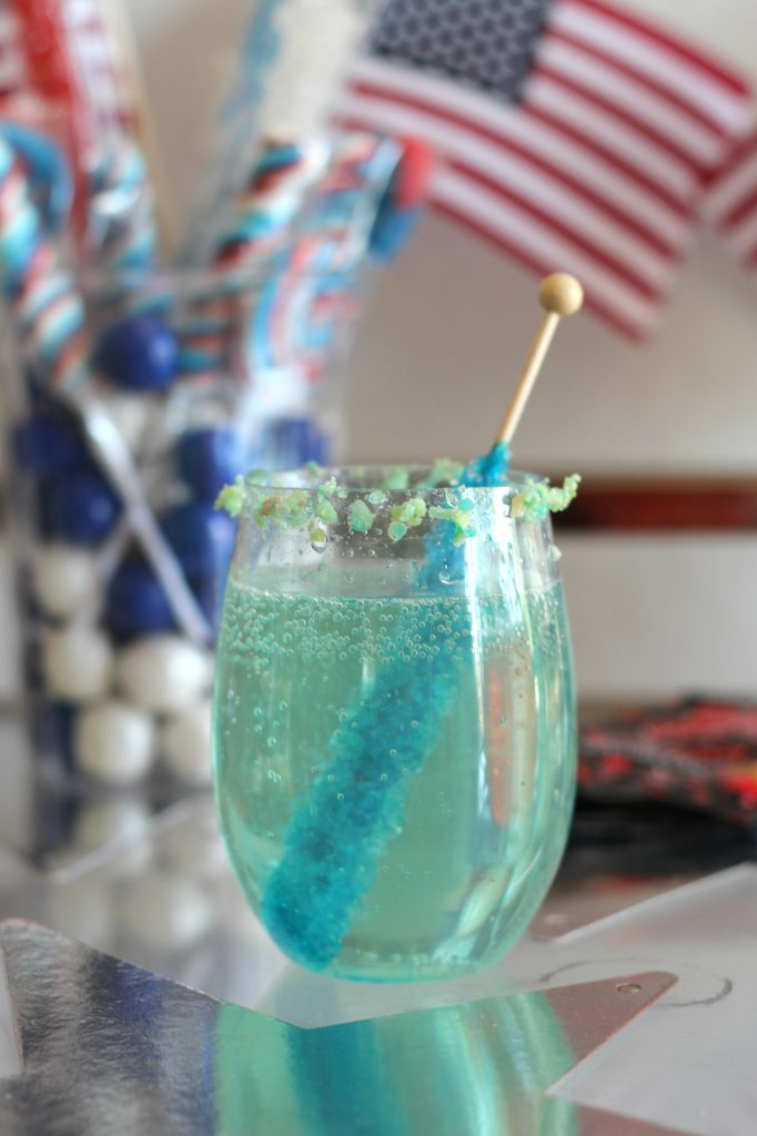 Sparkling Stars And Stripes Candy Cocktails Sparkle