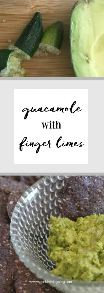Guacamole with finger limes! inger limes are the caviar of the lime world and add little bursts of lime to yor guac!