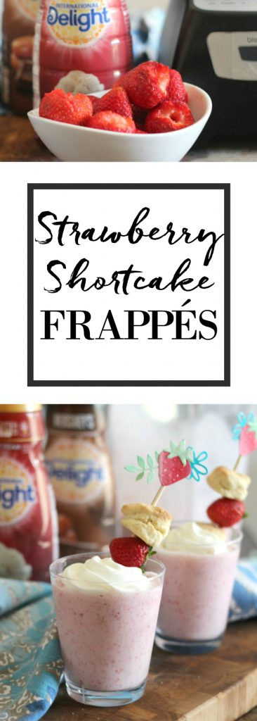 Strawberry shortcake frappés! Super easy to make and even easier to drink! #FrappeYourWay #ad