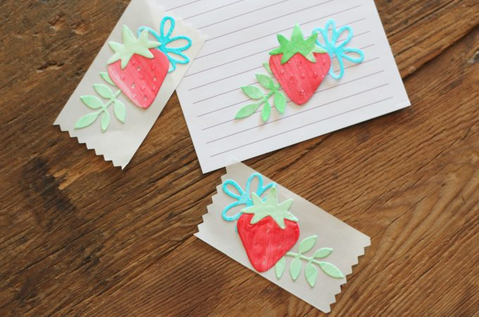 DIY Sweet Strawberry Stickers
