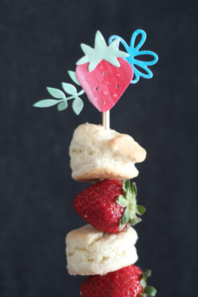 Sweet Strawberry Die Cut Skewers