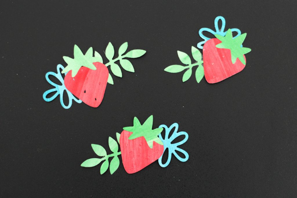 Sweet Strawberry Die Cut Stickers