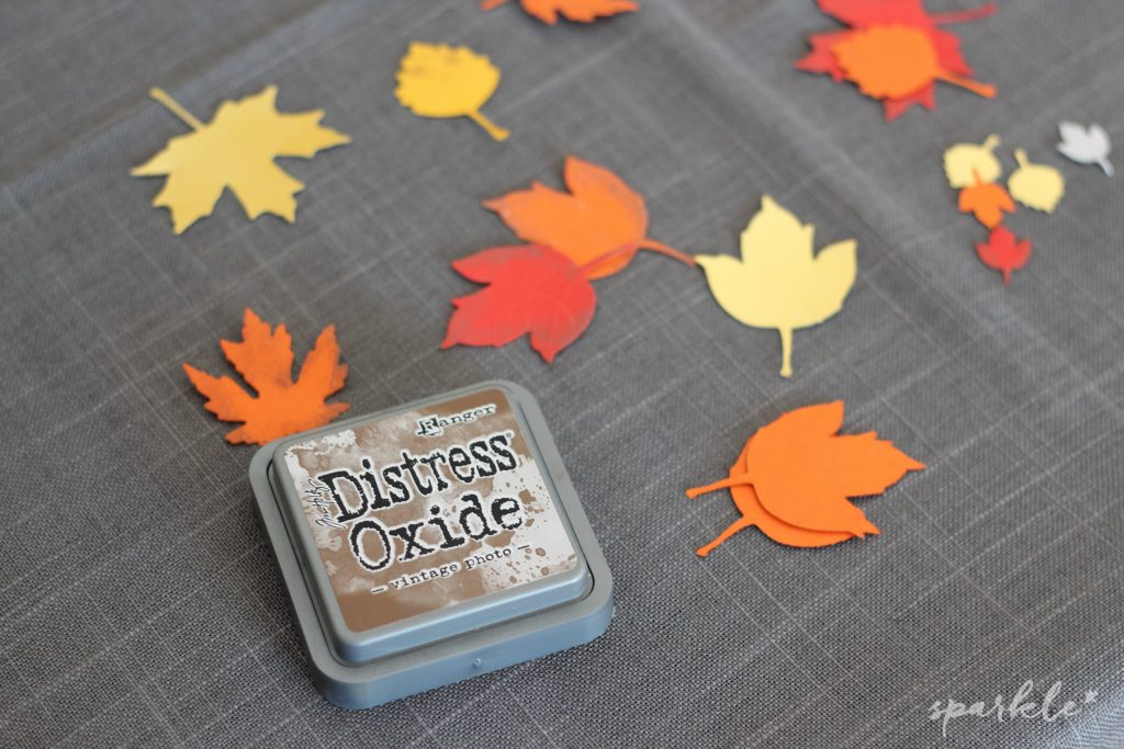 Brushlettered fall leaf coaster supplies