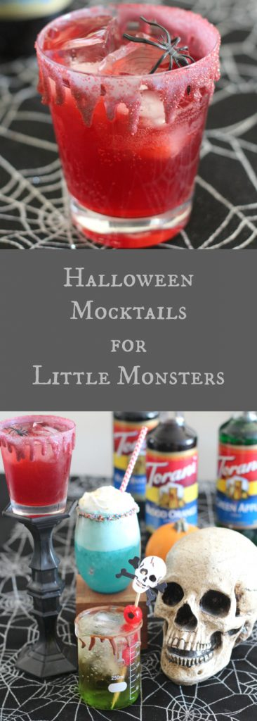 Halloween Mocktails for little monsters! Make these flavorful and colorful drinks for your favorite monster this Halloween! #AToraniHalloween #sponsored