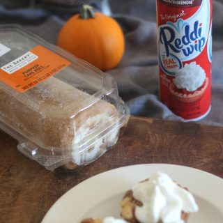 Pumpkin cake roll french toast muffins.