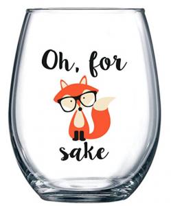 Oh, For Fox Sake Wine Glass