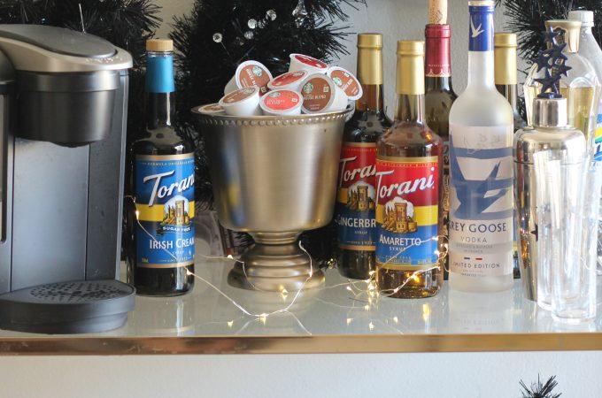 Christmas Bar Cart Essentials