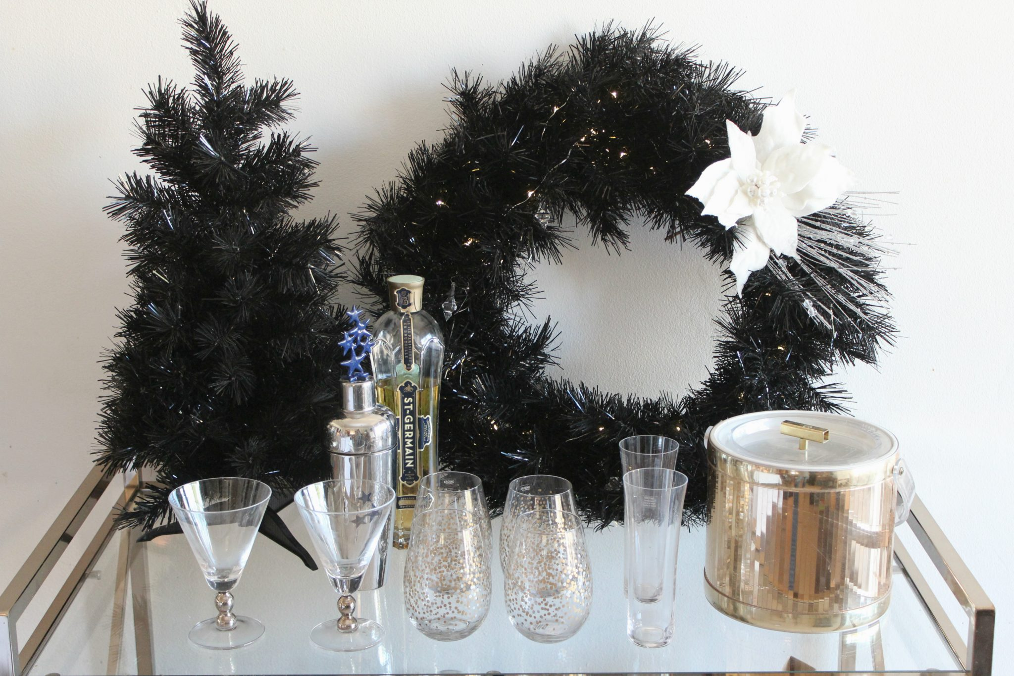 Glam NYE Bar Cart
