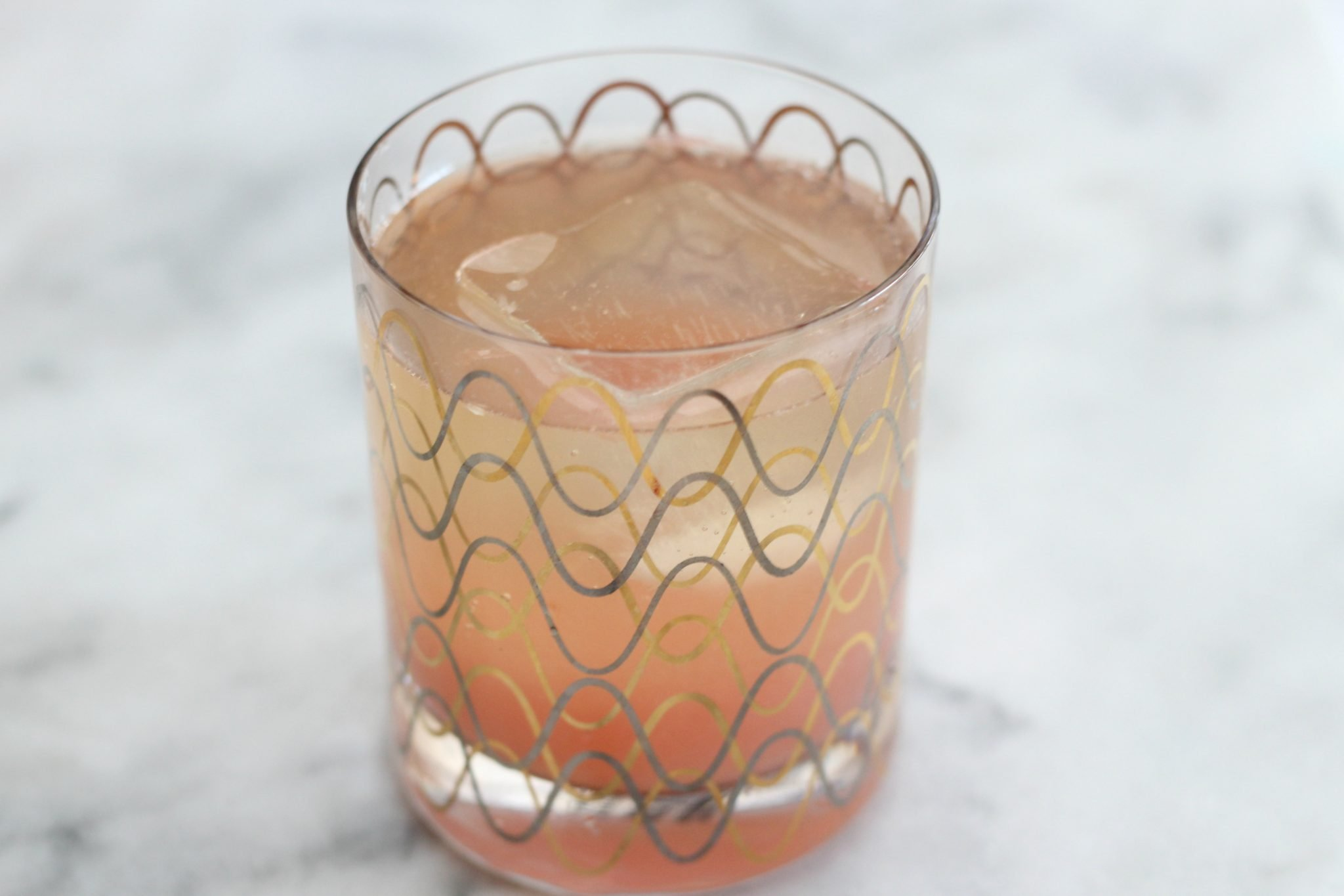 Grapefruit, tequila and soda cocktail
