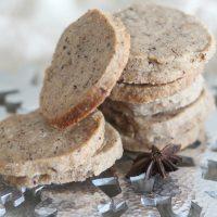 Peppercorn Chai Shortbread Cookies