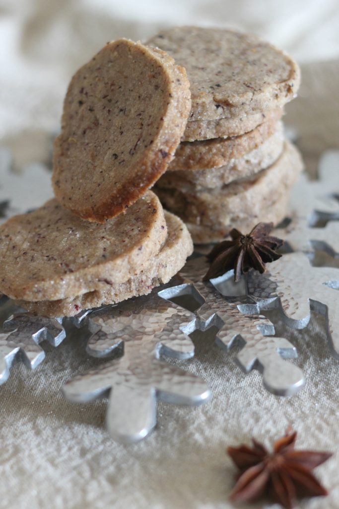 Peppercorn chai shortbread cookies