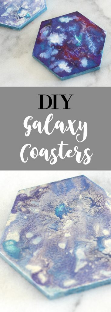 Make your own gorgeous galaxy coasters with this fun DIY tutorial!