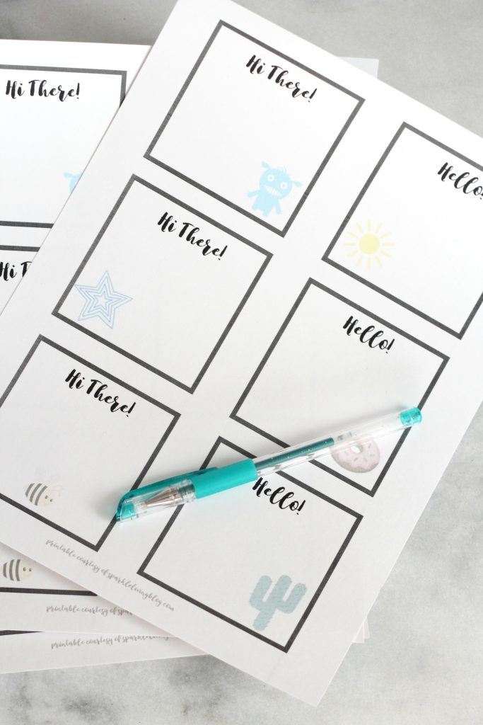 These free printable little hello notes are perfect for brightening someone's day.
