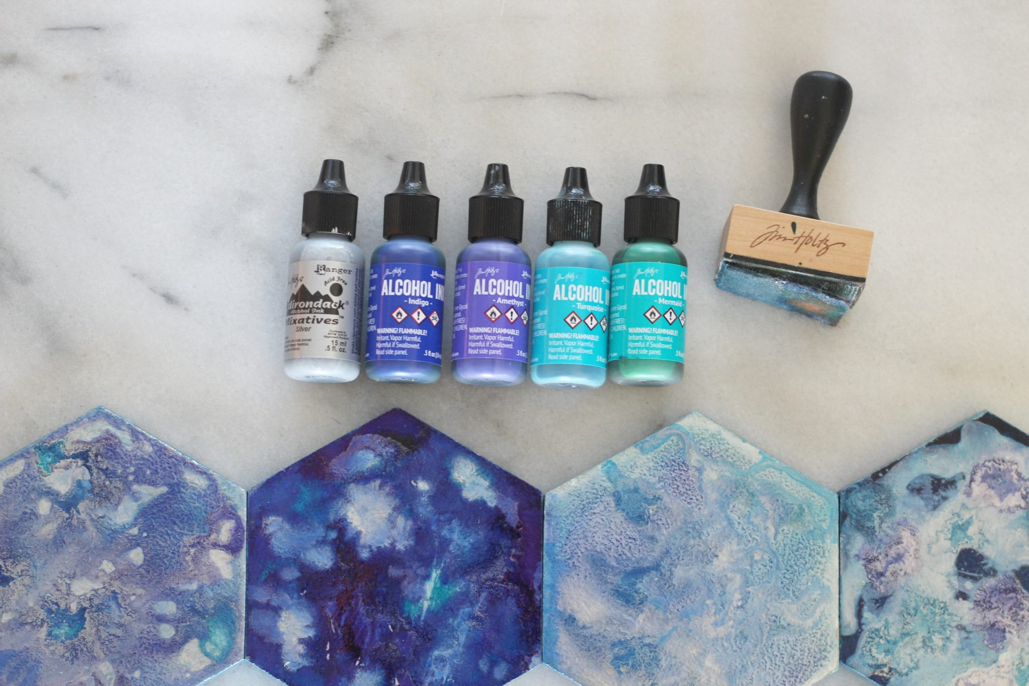 Diy Alcohol Ink Galaxy Coasters Sparkle Living Blog