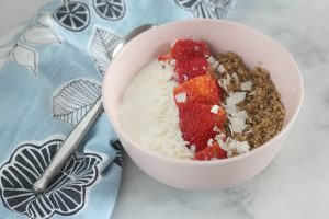 This Cinnamon Quinoa Breakfast Bowl makes a tasty and nutritious morning meal. The quinoa can be prepared ahead and it's completely versatile!