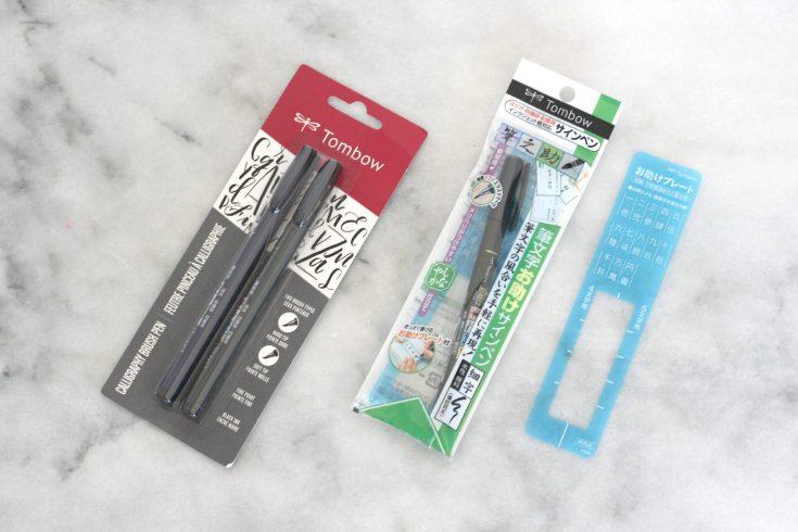 Tombow Fudenosuke Brush Pens Review