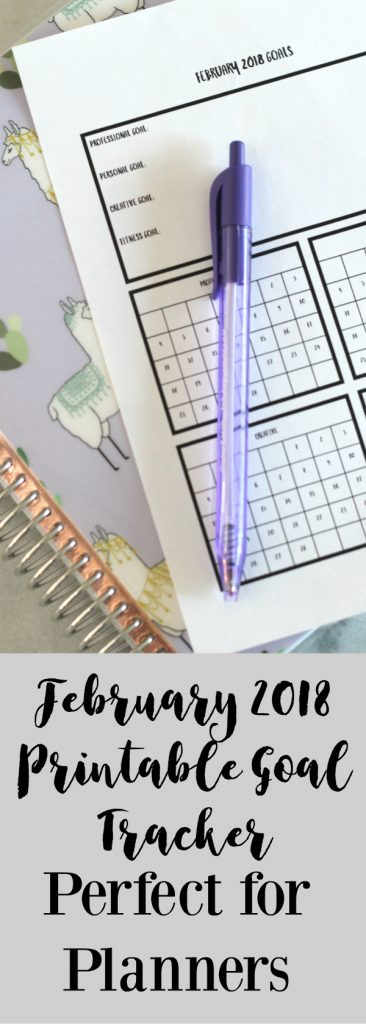 Keep on track with your goals using this free printable goal tracker for February.