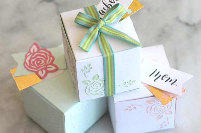 Springtime Flower Paper Gift Boxes