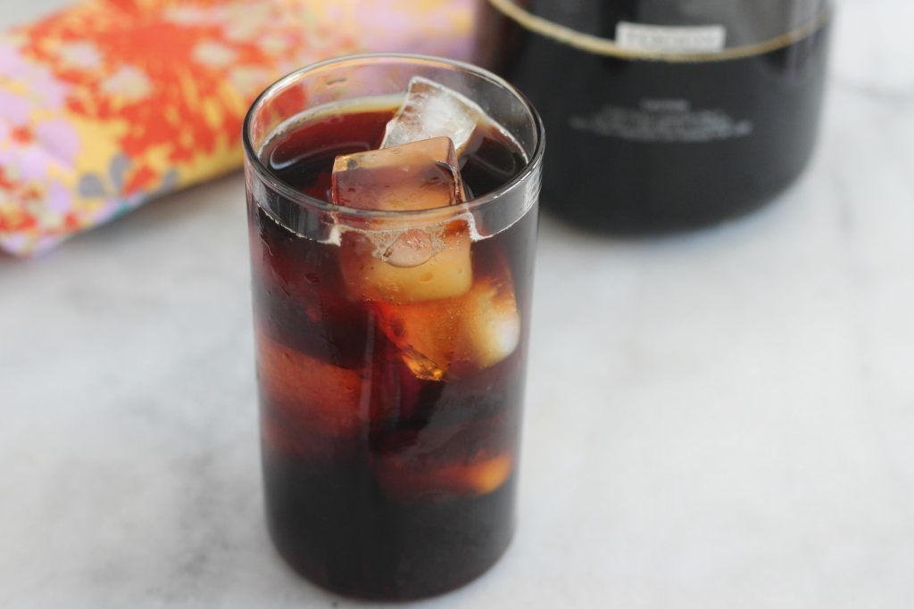Make your own cold brew coffee with this simple method. It's easy to make and will save you money and trips to the coffee shop!