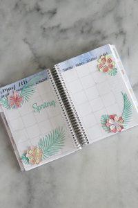 Handmade Tropical Flower Planner Stickers
