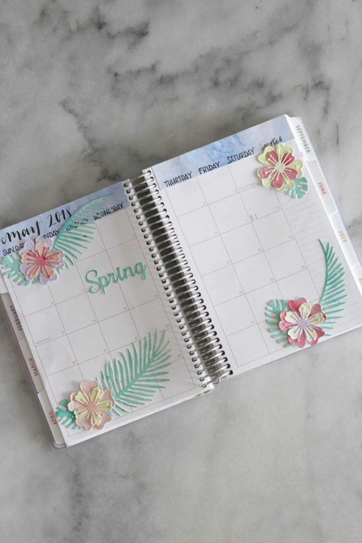 Handmade Tropical Flower Planner Stickers