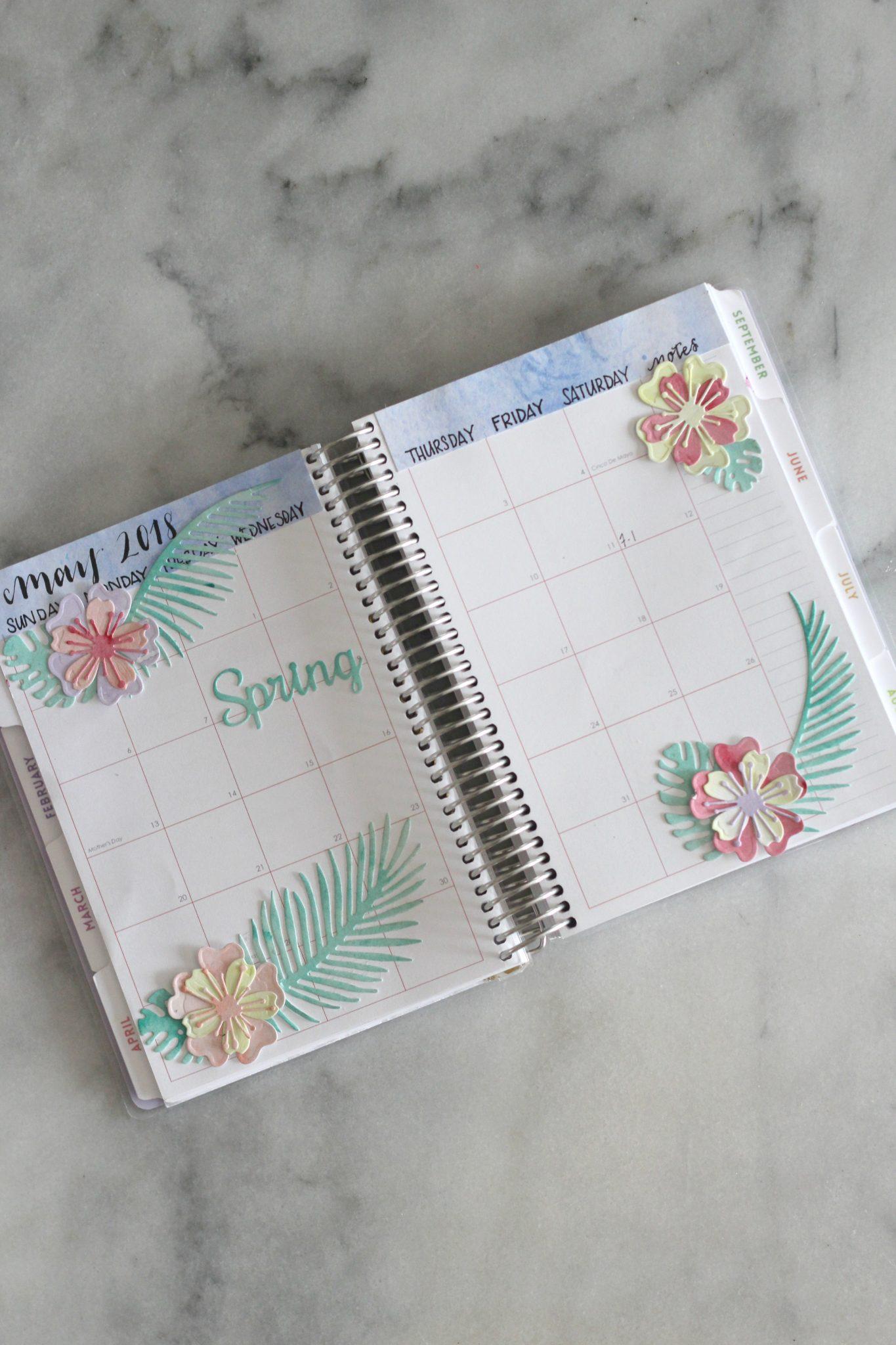 handmade tropical flower planner stickers sparkle living blog