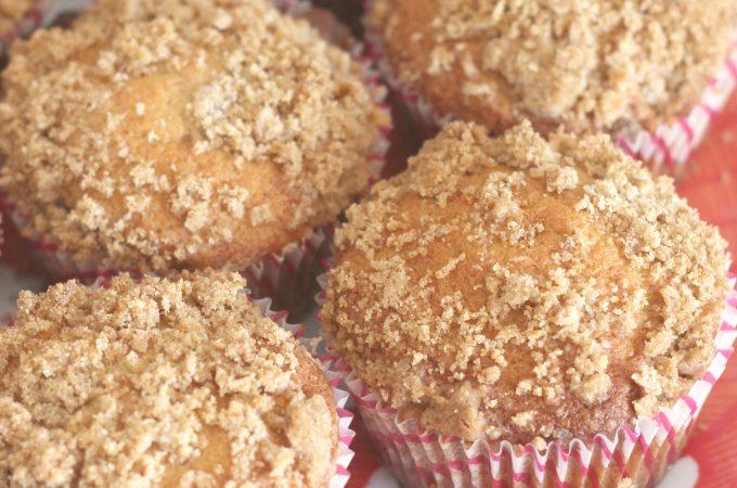 Cinnamon Streusel Banana Muffins