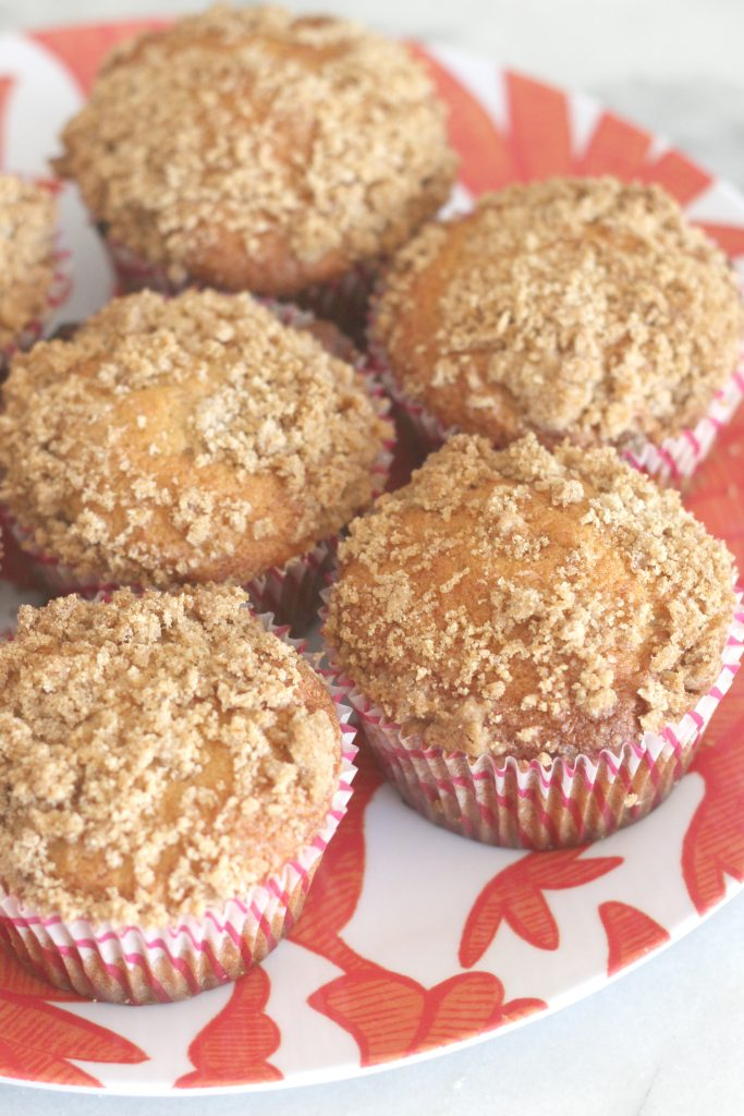 This cinnamon streusel banana muffin is going to be a fan favorite with the moist banana muffin and the cinnamony sweet streusel on top. Try the recipe and fall in love!