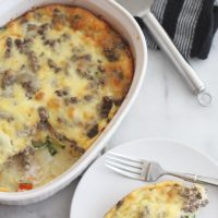 Ground Beef and Veggie Egg Bake