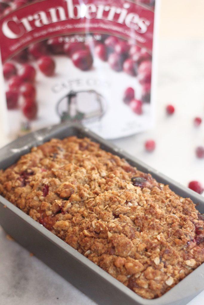 cranberry walnut banana bread loaf recipe