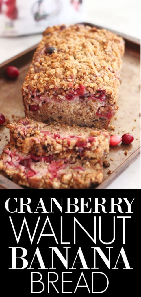 cranberry walnut banana bread loaf recipe