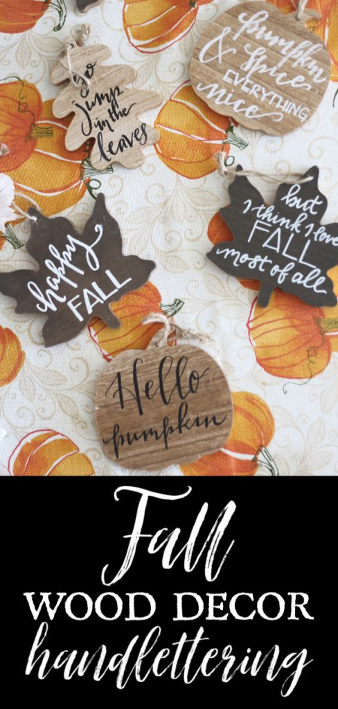 Fall wood diecut lettering