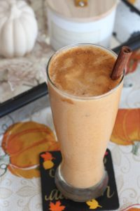 Add some healthy pumpkin to your protein shake with this Pumpkin Cinnamon Protein Shake recipe!