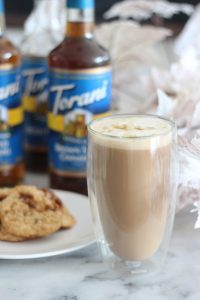 Homemade oatmeal cookie lattes. Perfect for fall with Torani syrups.